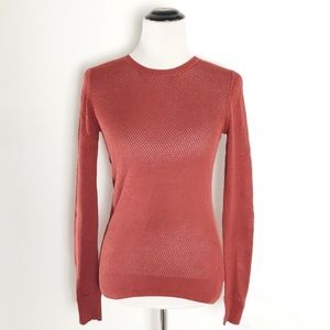 Theory Open Knit Crew Neck Pullover Sweater